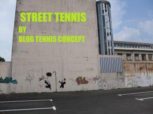 Mur d'entrainement de tennis sauvage