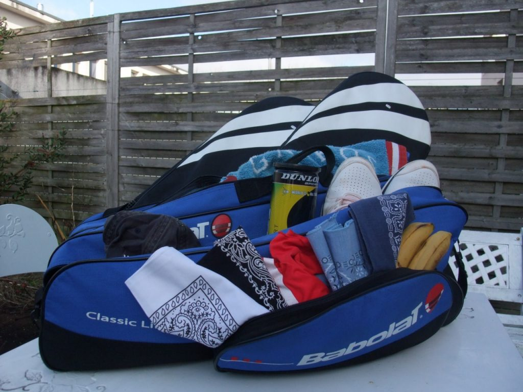 contenu du sac de tennis