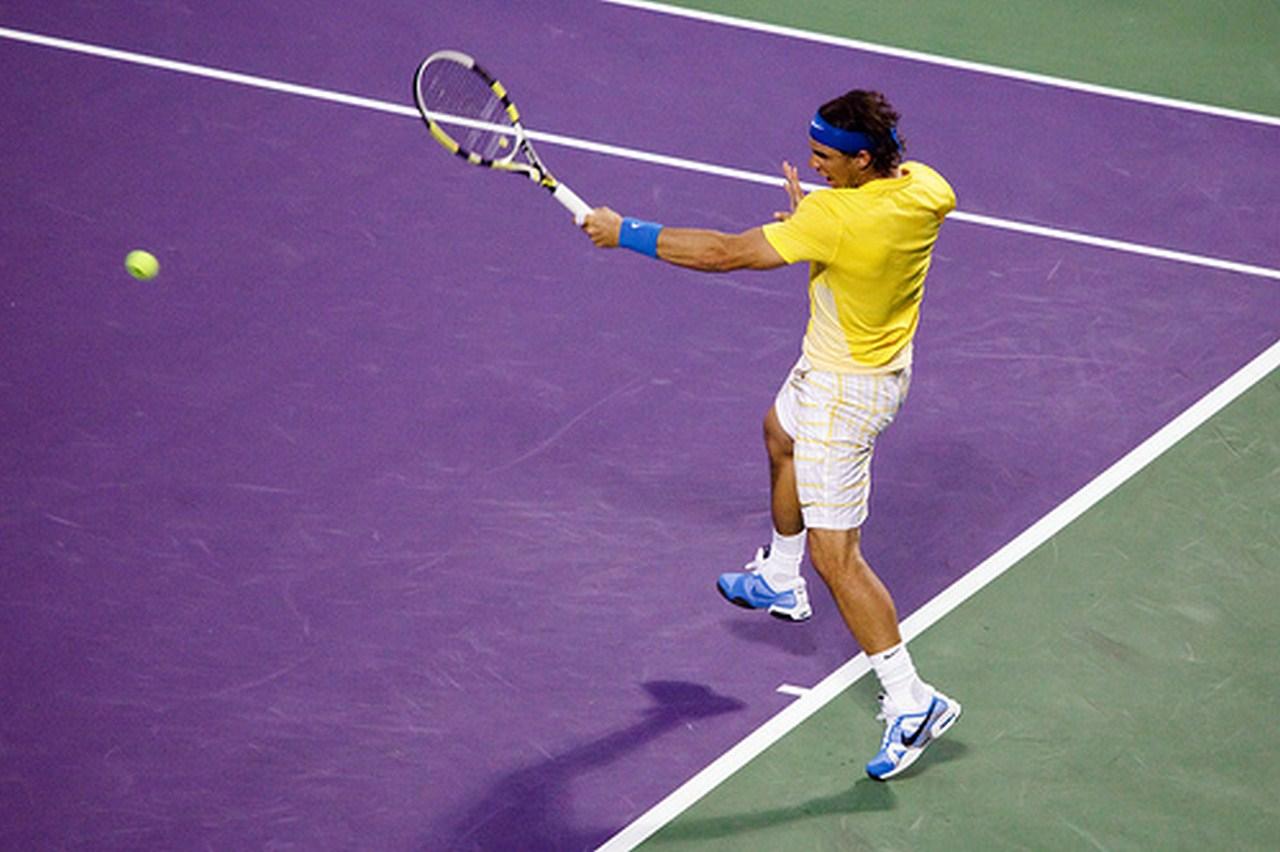La torture du droitier, le coup droit de Rafael Nadal.