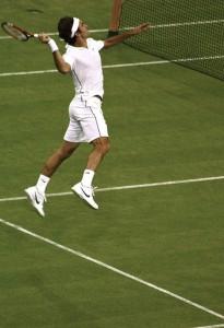Federer slam dunk