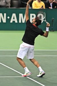 Roger Federer prêt à smasher
