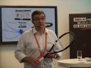 Eric Babolat presente sa concept raquette