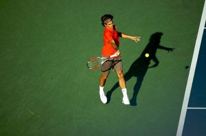 Roger Federer en prise plus fermée