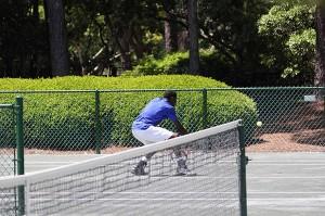 volee de tennis délicate