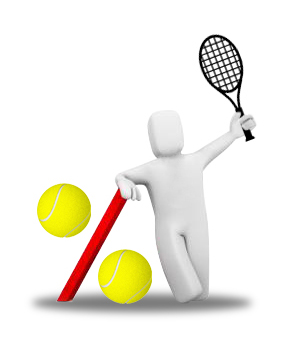 logo tennis pourcentage