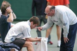 Jerôme Liauzun (à droite), un entraineur très écouté sur les courts ©Gilles Lazennec