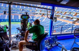 Pas besoin d'un dispositif de pro pour se faire filmer au tennis © Bee Collins