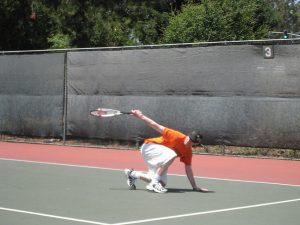 lever de bras trop important pour compenser un déséquilibre arrière ©The mightly Tim